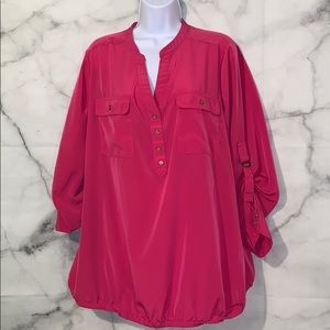 Lane Bryant hot pink blouse